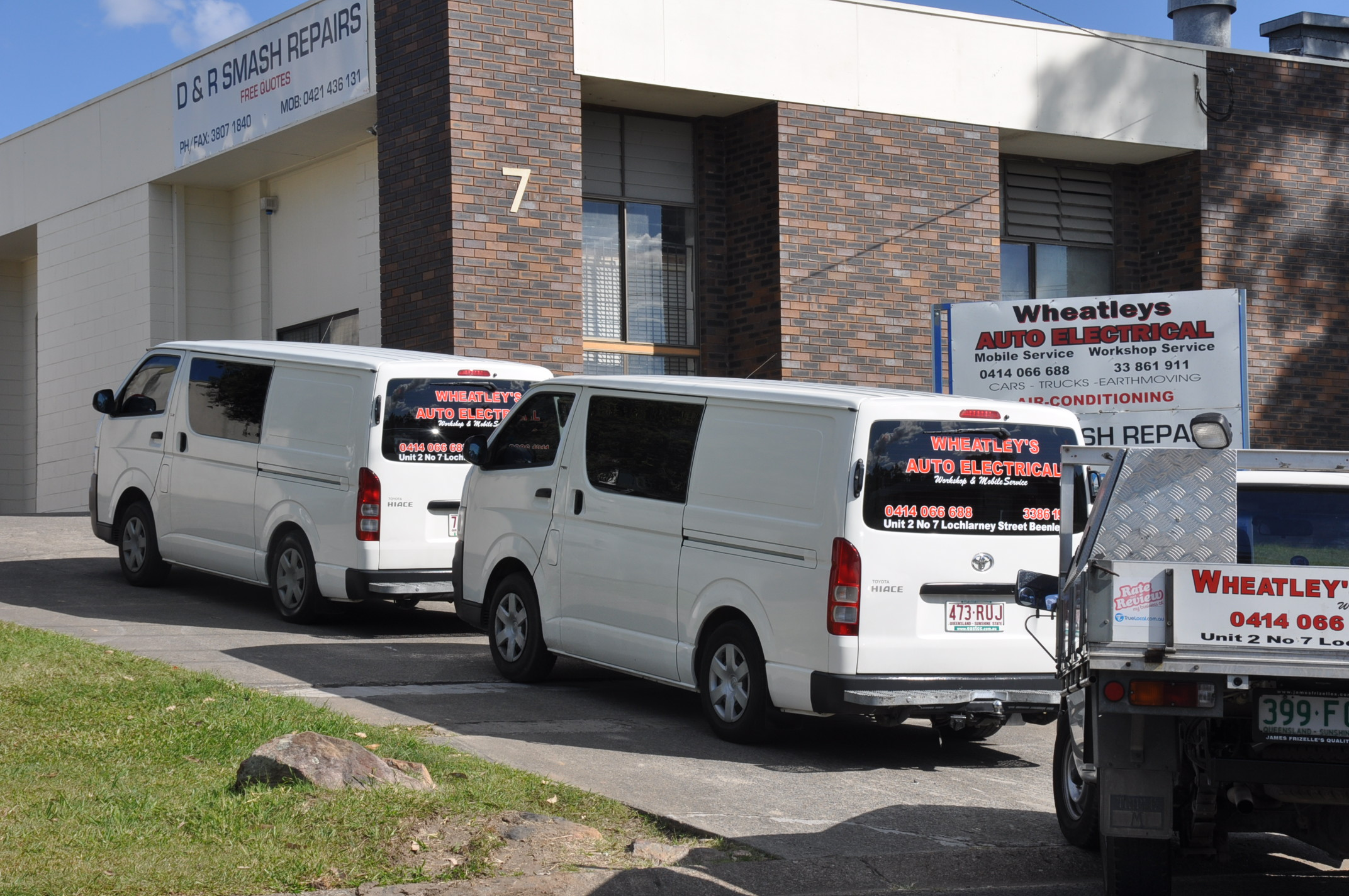 a. photo of vans for mobile services